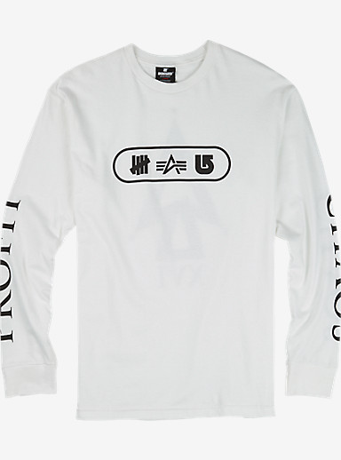 UNDEFEATED x Alpha Industries x Burton Chaos Long Sleeve T Shirt shown in White