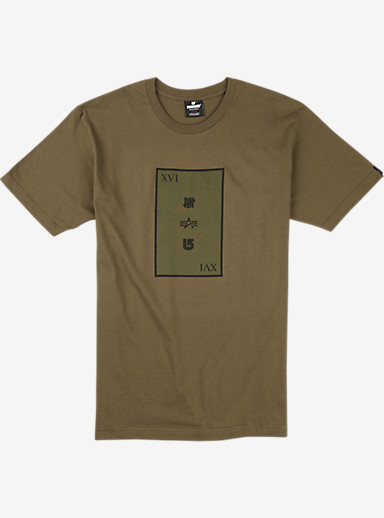 UNDEFEATED x Alpha Industries x Burton Plate Short Sleeve T Shirt shown in Army
