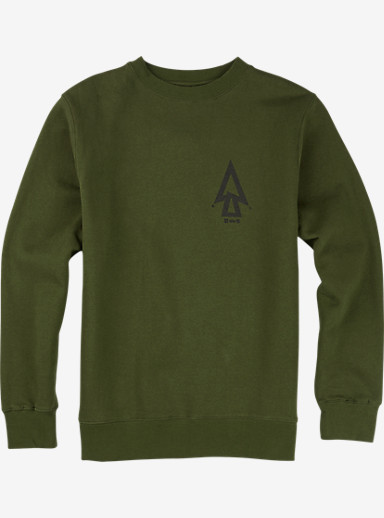 UNDEFEATED x Alpha Industries x Burton Trinity Crew shown in Army