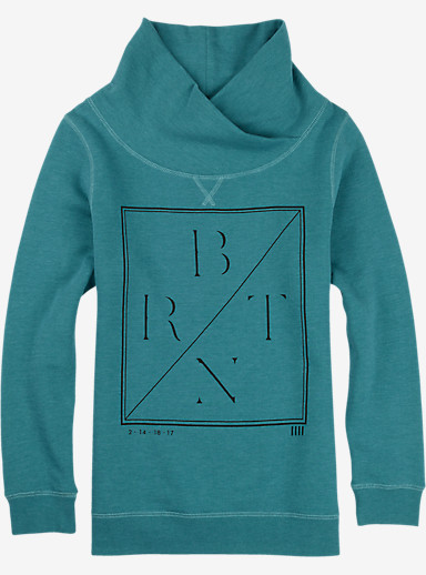 Burton Sterns Mockneck Pullover shown in Teal