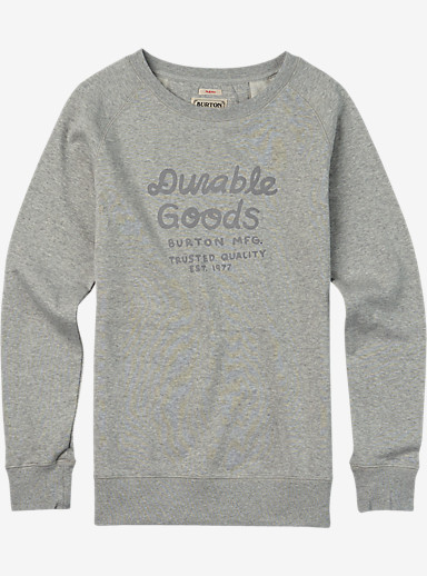 Burton Dalphine Crew Raglan Pullover shown in Gray Heather