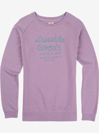 Burton Dalphine Crew Raglan Pullover shown in Dusty Grape Heather