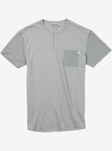 Burton Dwight Short Sleeve Pocket T Shirt shown in Monument Heather