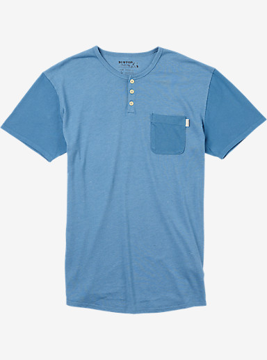 Burton Dwight Short Sleeve Pocket T Shirt shown in Coronet Blue Heather