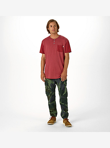 Burton Dwight Short Sleeve Pocket T Shirt shown in Brick Red Heather