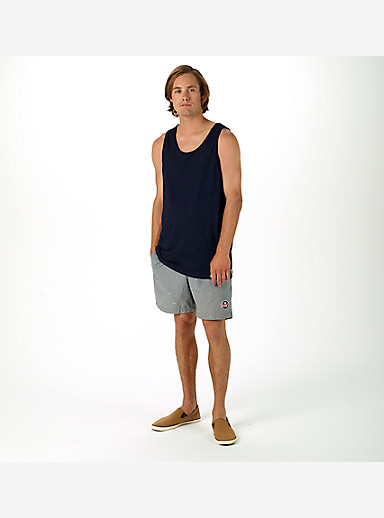 Burton Reed Tank shown in Indigo Dobby