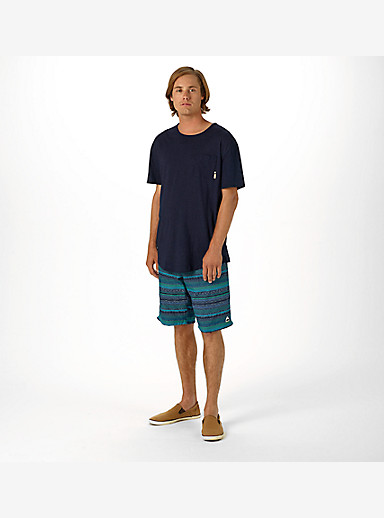 Burton Reed Short Sleeve Pocket T Shirt shown in Indigo Dobby