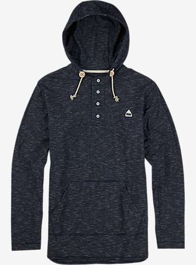 Burton Benson Hooded Henley shown in Indigo Stripe