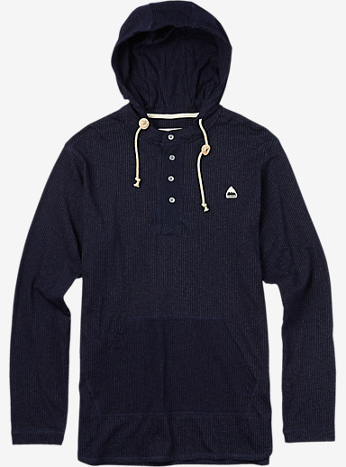 Burton Benson Hooded Henley shown in Indigo Dobby
