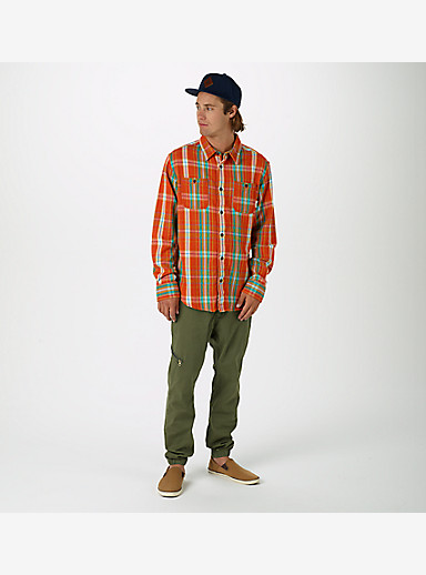 Burton Fairfax Flannel shown in Red Clay Essex Plaid