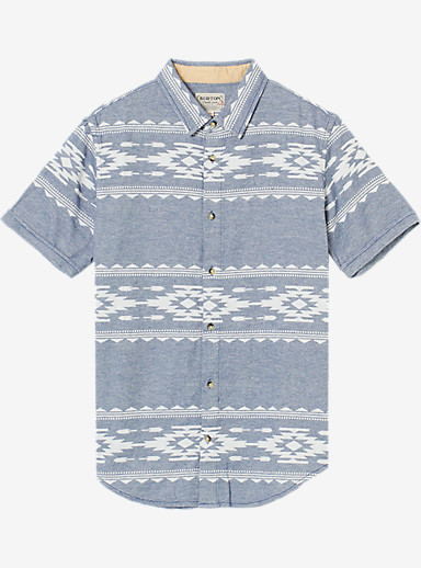 Burton Tycoon Short Sleeve Shirt shown in Dark Denim Famish Stripe