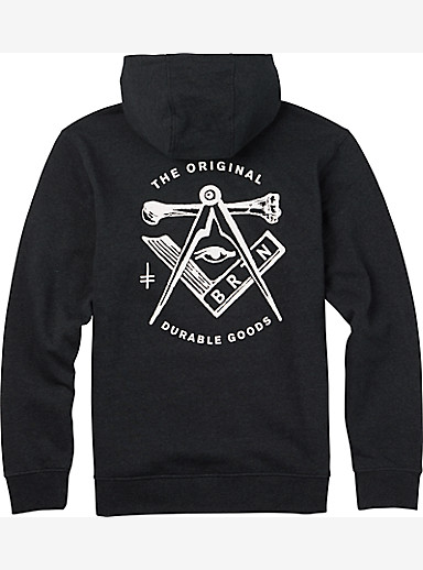 Burton Iggy Full-Zip Hoodie shown in True Black Heather