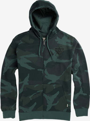 Burton Iggy Full-Zip Hoodie shown in Beetle Derby Camo