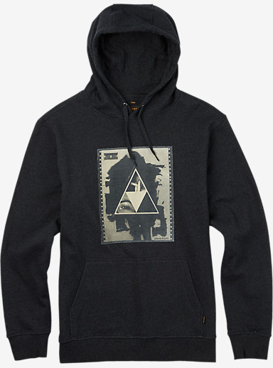 Burton Stockman Pullover Hoodie shown in True Black Heather
