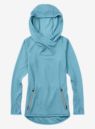 Burton Crystal Pullover Hoodie shown in Hydro Heather