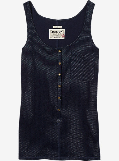 Burton Salvador Tank shown in Indigo Dobby