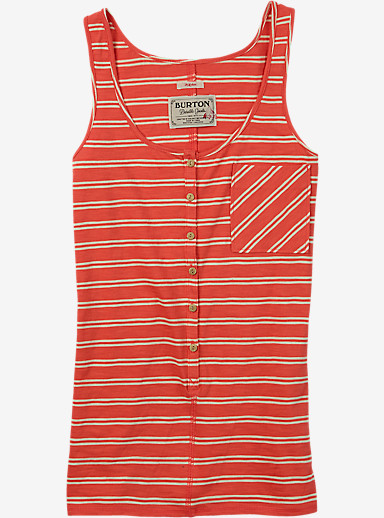 Burton Salvador Tank shown in Hot Coral Norwich Stripe