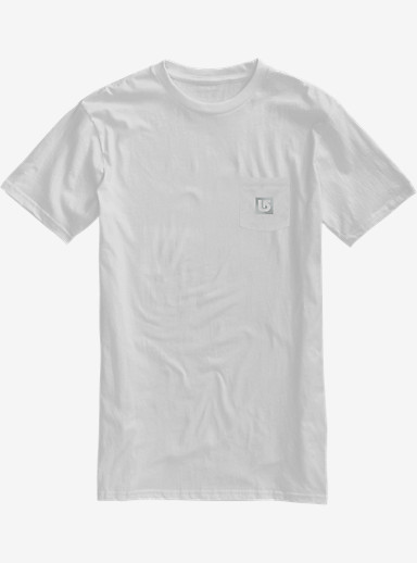 Burton Reflect Slim Fit Short Sleeve T Shirt shown in Blanco