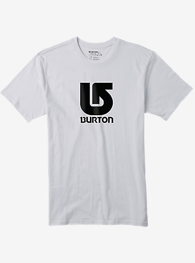 Burton Logo Vertical Slim Fit Short Sleeve T Shirt shown in Stout White