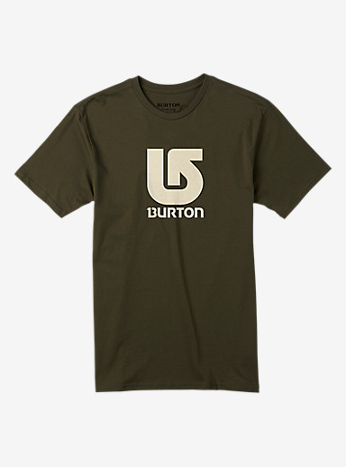 Burton Logo Vertical Slim Fit Short Sleeve T Shirt shown in Keef