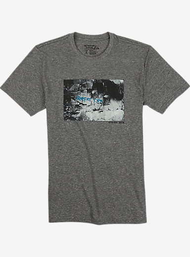 Burton Reefer Ridge Slim Fit Short Sleeve T Shirt shown in Gray Heather