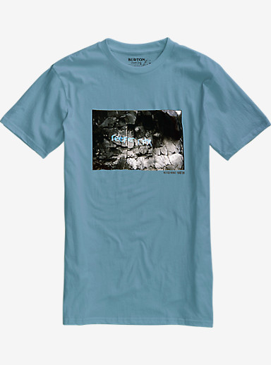 Burton Reefer Ridge Slim Fit Short Sleeve T Shirt shown in Washed Blue