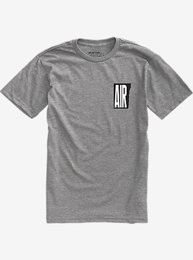 Burton Retro Air Short Sleeve T Shirt shown in Gray Heather