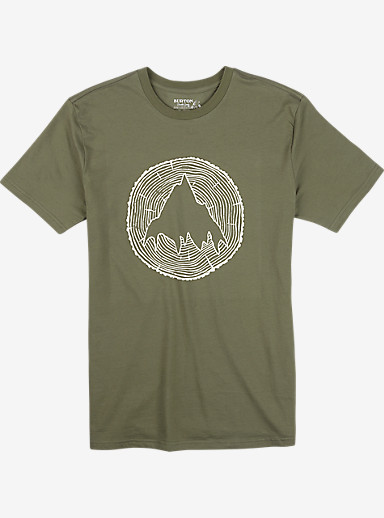 Burton Johnson Slim Fit Short Sleeve T Shirt shown in Light Olive
