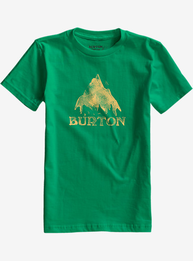 Burton Boys' Stamp Mountain Short Sleeve T Shirt shown in Kelly Green