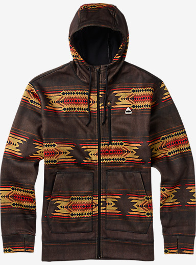 Burton Classic Bonded Full-Zip Hoodie shown in Beaver Tail Sierra