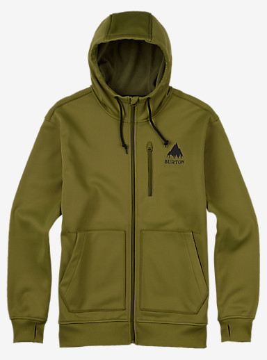 Burton Classic Bonded Hoodie shown in Olive Branch
