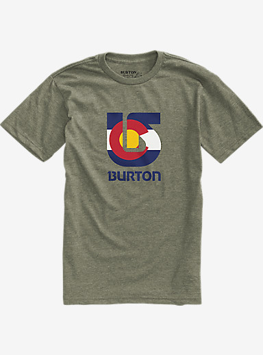 Burton Colorado Flag Process Short Sleeve T Shirt shown in Military Green