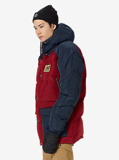 Analog Innsbruck Down Jacket shown in Blood / Eclipse