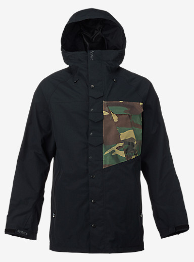 Analog Zenith Jacket shown in True Black / Surplus Camo