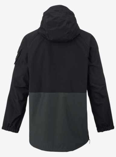 Analog Highmark Anorak Jacket shown in True Black / Dark Charcoal
