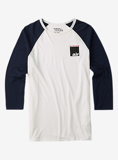 Burton Air Raglan Shirt shown in Stout White
