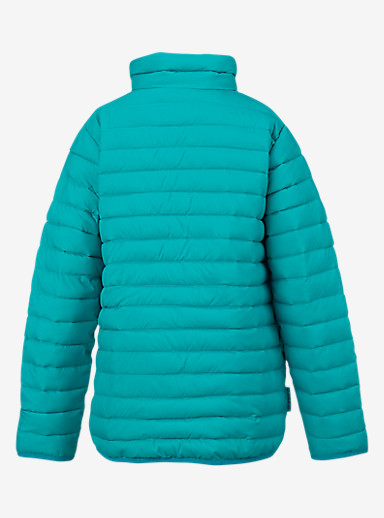 Burton Kids' Reversible Flex Puffy Jacket shown in Everglade / Rainbow Drop