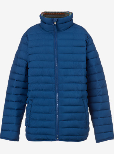 Burton Kids' Reversible Flex Puffy Jacket shown in Boro / Glacier Beach Stripe