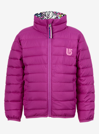 Burton Minishred Flex Puffy Jacket shown in Grapeseed / Animalia