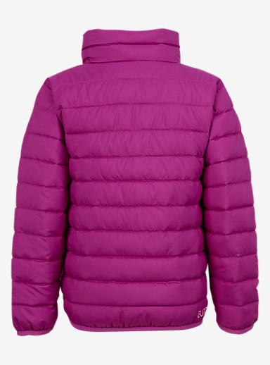 Burton Minishred Reversible Flex Puffy Jacket shown in Grapeseed / Animalia