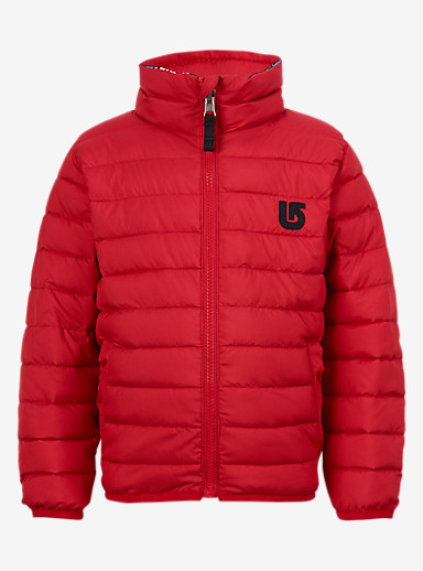 Burton Minishred Reversible Flex Puffy Jacket shown in Process Red / Seaside Stripe