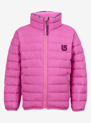 Burton Minishred Reversible Flex Puffy Jacket shown in Sp Pink / Ikat Dot