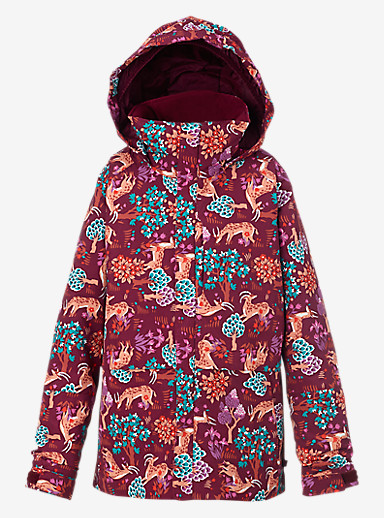 Burton Girls' Gemini System Jacket shown in Woodland Wonder