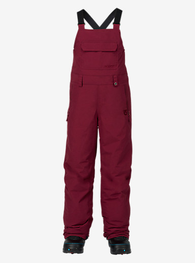 Burton Kids' Skylar Bib Pant shown in Sangria