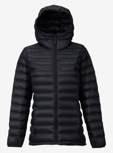 Burton Women's Evergreen Hooded Down Insulator shown in True Black