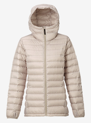 Burton Evergreen Hooded Down Insulator shown in Dove Heather
