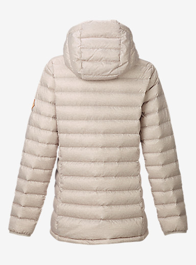 Burton Women's Evergreen Hooded Down Insulator shown in Dove Heather