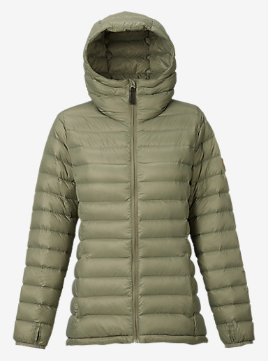 Burton Evergreen Hooded Down Insulator shown in Vetiver