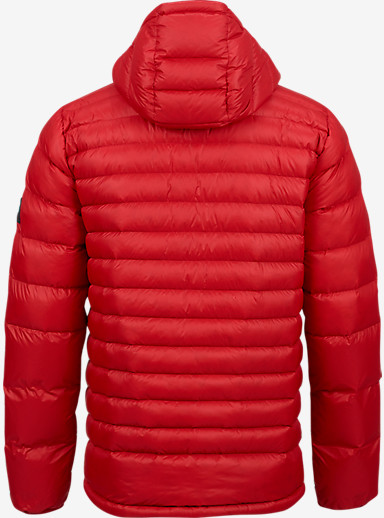 Burton Evergreen Hooded Down Insulator shown in Process Red