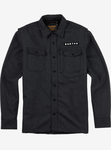 Burton Harbour Wool CPO Jacket shown in Dark Ash Heather